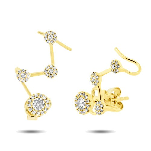 0.41ct 14k Yellow Gold Diamond Ear Crawler Earring SC55004222 - 0.41ct 14k Yellow Gold Diamond Ear Crawler Earring SC55004222