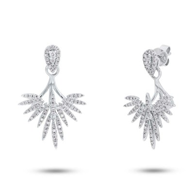 0.44ct 14k White Gold Diamond Ear Jacket Earring with Studs SC55005274 - 0.44ct 14k White Gold Diamond Ear Jacket Earring with Studs SC55005274