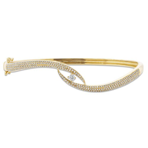 0.70ct 14k Yellow Gold Diamond Pave Bangle SC55004615ZS - 0.70ct 14k Yellow Gold Diamond Pave Bangle SC55004615ZS