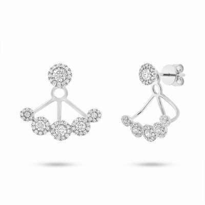 0.80ct 14k White Gold Diamond Earring Jacket with Studs SC55003077 - 0.80ct 14k White Gold Diamond Earring Jacket with Studs SC55003077