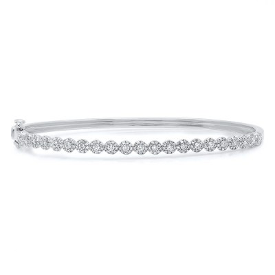 0.89ct 14k White Gold Diamond Bangle SC55004301ZS - 0.89ct 14k White Gold Diamond Bangle SC55004301ZS