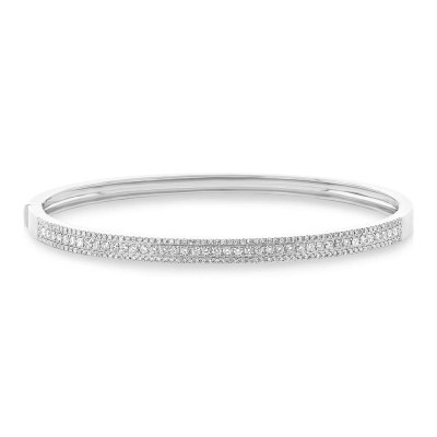 0.90ct 14k White Gold Diamond Bangle SC55004039ZS - 0.90ct 14k White Gold Diamond Bangle SC55004039ZS