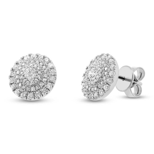 0.93ct 14k White Gold Diamond Stud Earring SC55003879 - 0.93ct 14k White Gold Diamond Stud Earring SC55003879
