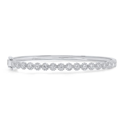 1.35ct 14k White Gold Diamond Bangle SC55004304ZS - 1.35ct 14k White Gold Diamond Bangle SC55004304ZS