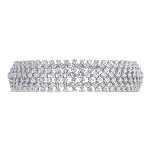 10.95ct 18k White Gold Diamond Ladys Bracelet SC37215625 - 10.95ct 18k White Gold Diamond Lady's Bracelet SC37215625