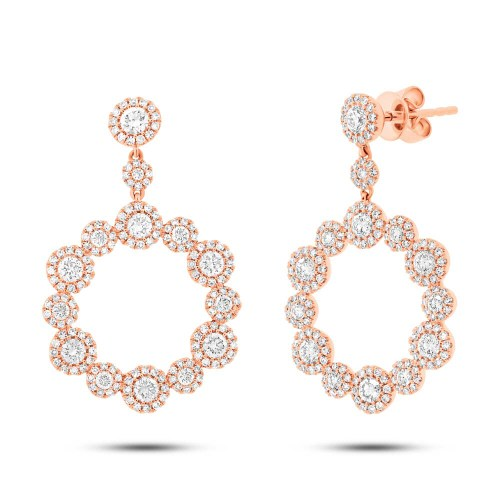 2.07ct 14k Rose Gold Diamond Earring SC55003852 - 2.07ct 14k Rose Gold Diamond Earring SC55003852