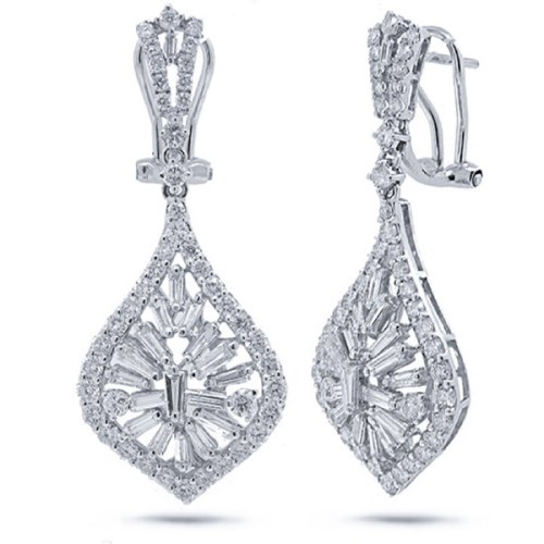 2.96ct 18k White Gold Diamond Earring SC37214458 - 2.96ct 18k White Gold Diamond Earring SC37214458