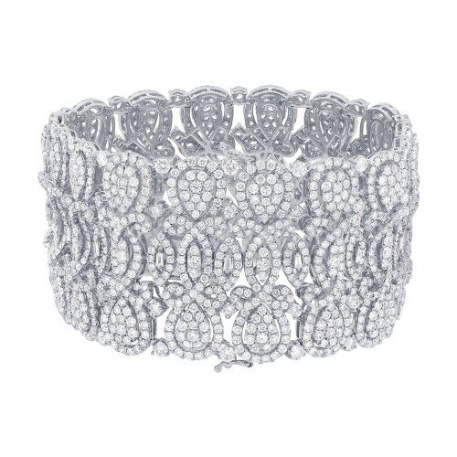 29.44ct 18k White Gold Diamond Ladys Bracelet SC37214348 1 - 29.44ct 18k White Gold Diamond Lady's Bracelet SC37214348