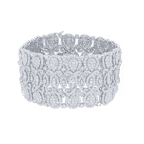 29.44ct 18k White Gold Diamond Ladys Bracelet SC37214348 - 29.44ct 18k White Gold Diamond Lady's Bracelet SC37214348