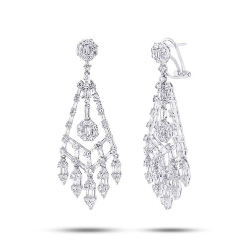 4.41ct 18k White Gold Diamond Earring SC37215266 - 4.41ct 18k White Gold Diamond Earring SC37215266
