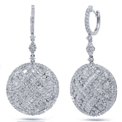 5.91ct 18k White Gold Diamond Earring SC37214651 - 5.91ct 18k White Gold Diamond Earring SC37214651