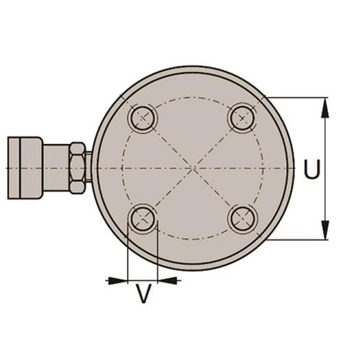 6Cilindro de Aço Dupla Ação