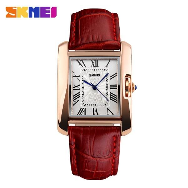 1085主图1 Skmei Ladies leather strap watch