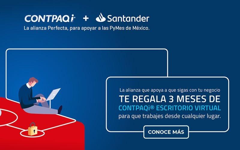 CONTPAQi conoce más alianza santander contpaqi