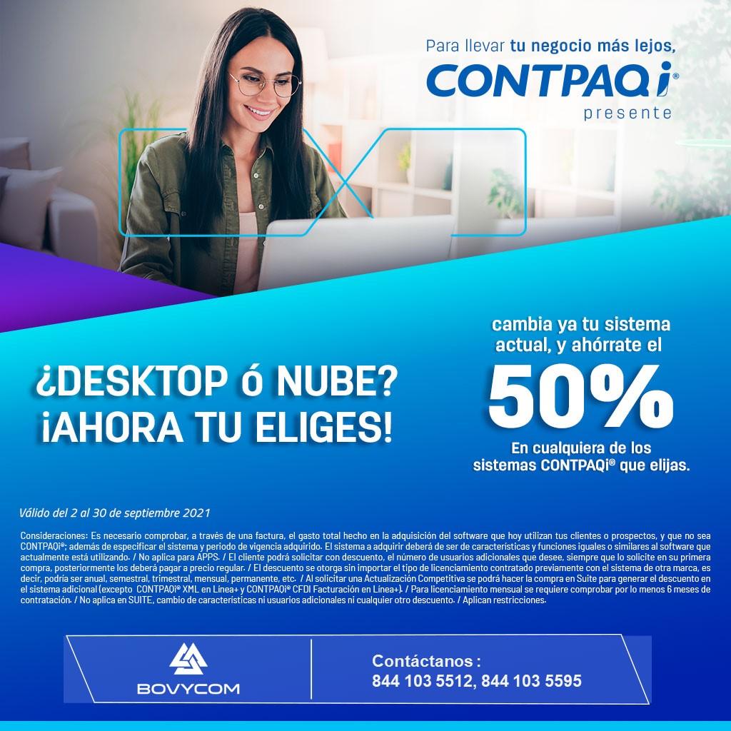 CONTPAQi Desktop o Nube