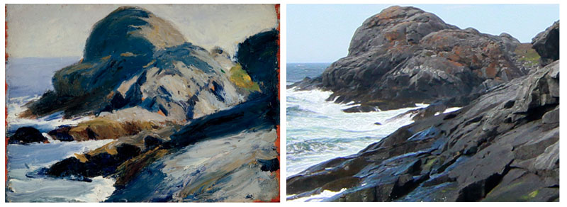 "Edward Hopper, ""Rocky Shore (Gull Rock)"