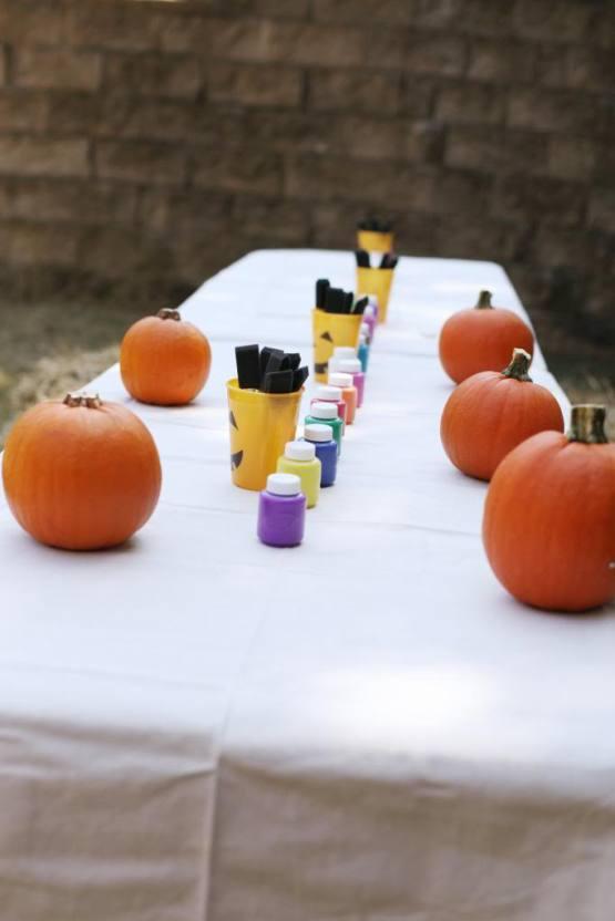 Thanksgiving Pumpkin Painting
