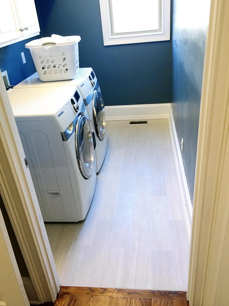 tiling our laundry room floor bower power
