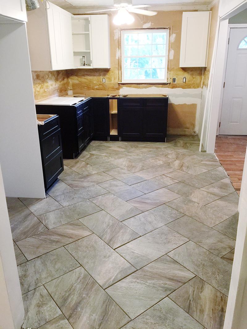 tips to lay a herringbone pattern tile