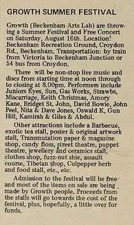 International Times article on the Beckenham Free Festival, 15 August 1969