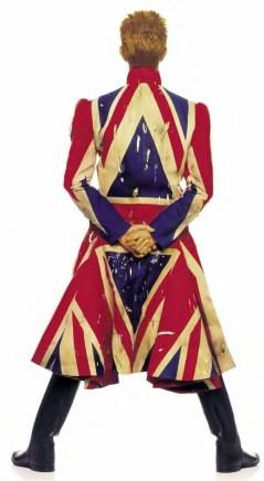 David Bowie wearing Alexander McQueen coat for Earthling cover, 1997 (photo: Frank W Ockenfels III)