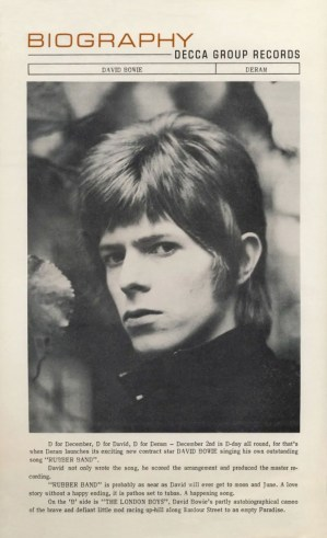 Rubber Band press release by Deram, 1966