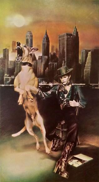 Guy Peellaert's unused artwork for David Bowie's Diamond Dogs inner gatefold
