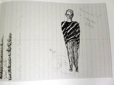 David Bowie's sketches for the Lazarus video