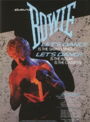 Advertisement for Let's Dance album and single