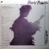 David Bowie Interview LP (Scary Monsters) rear cover