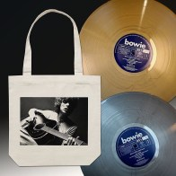 Space Oddity silver/gold vinyl and tote bag (2019)