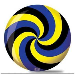 Brunswick Spiral Viz A Ball Bowling Ball- Black/Blue/Yellow (14lbs) by Brunswick Bowling Products