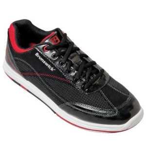 Chaussures de bowling larges pour homme en titane noir/salsa brunswick Noir Noir/Rouge 40.5