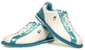 Chaussures de bowling 3G Kicks, pour homme et femme, pour droitiers et gauchers 40 blanc/bleu