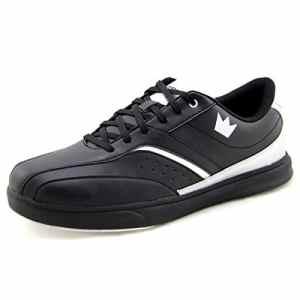 Brunswick Vapor Chaussures de bowling pour femme et homme–Différentes couleurs Taille 39–47, noir/argent, 41.5