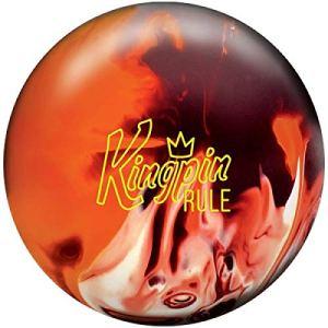 Brunswick Kingpin Boule de Bowling réactive pour débutants et Joueurs de Gymnastique avec nettoyant EMAX 100 ML, 13 LBS