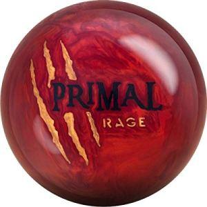 Motif Primal Rage 5 YR Le Lava Rouge Pearl Surface réactive Boule de Bowling pour débutants et Joueurs de Tournoi – avec nettoyant de Balle EMAX 100 ML, 16 LBS