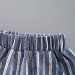 BurBurly Bébé Garçons Gentleman 2019 Été Enfant Garçon Pas Cher Vêtements Pas Cher Ensemble Lettre de voitureT-Shirts à Manches Courtes et à Rayures