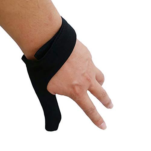 perfeclan Gant De Protection élastique pour Doigt De Bowling/Protège-Boules De Bowling – Noir, 11cm