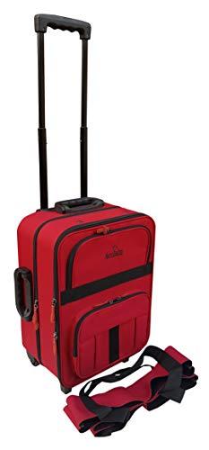 Acclaim Redcar Sac de bowling professionnel pour boules de bowling – Tapis court et plat – Pour l'intérieur et l'extérieur – Avec sac de transport pour quatre boules (rouge/noir)