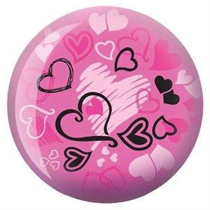 Brunswick Products Hearts Glow Viz-A Boule de bowling Rose/noir 12 kg