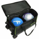Pyramid Prime double Sac de bowling à roulettes, vert citron