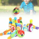 Boule de Bowling en PU, Boule de Bowling Portable et légère, Longue durée de Vie Robuste en matériau PU de Haute qualité Durable pour Les Cadeaux d'enfants