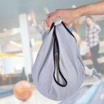 EVTSCAN 1 Paquet de Sac de balançoire de Bowling, Sac de Support de Nettoyeur de Balle de Transporteur de Sac de polisseur de Bowling pour équipement de Gymnastique (Noir, Bleu, Gris)(Gris)