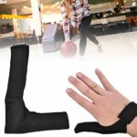 Esenlong Gants de bowling pour adulte droite/gauche – Antidérapants – Pour la main droite et gauche – Stabilisateur de pouce – Gants de sport pour boule de bowling – Noir
