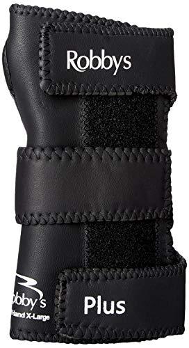 Robby's Gant de Poignet pour Bowling en Cuir Poignet Droit Noir Noir Grand