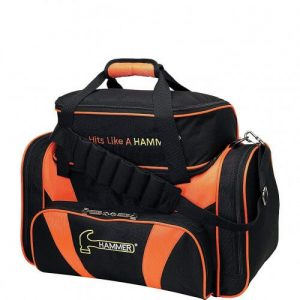 Black and Orange Hammer Double Tote