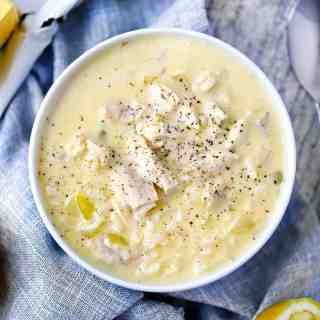 Avgolemono (Greek chicken soup with lemon and egg)