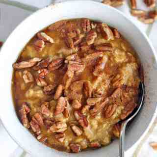 Spiced Pumpkin Pie Oatmeal