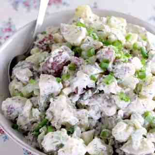 Cold Potato Salad with Buttermilk Dill Dressing